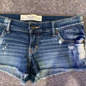 Abercrombie & Fitch | Low Rise Denim Shorts